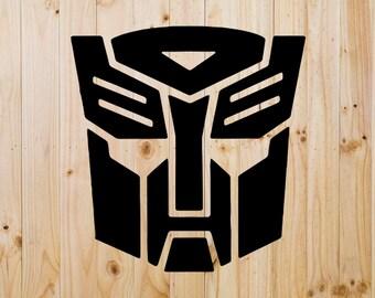 Transformer Vinyl Decal - Yeti Decal - Window Decal - Window Cling - Car Decal - Robots - Optimus Price - Decepticons - Permanent