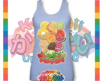 Kawaii Universe - Cute Classic Fruits Group Designer Tank Top (Unisex)