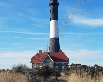 Snowy Fire Island Lighthouse