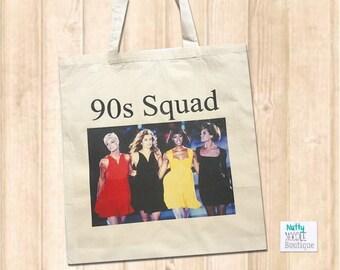 Canvas Shopper Bag - 90s Supermodel | Retro | Gift | Fashion Theme