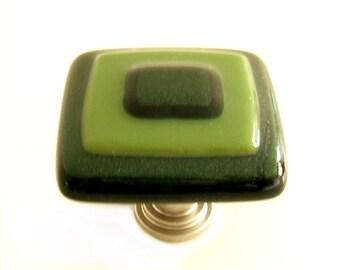 Olive Green Aventurine Green Art Glass Cabinet Knobs Hardware