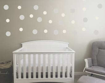 Polka Dot Wall Decals/Stickers - Various Options/Colors