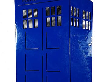 Tardis metal wall art