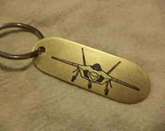 F-35 Lightening II  Etched Brass Keychain