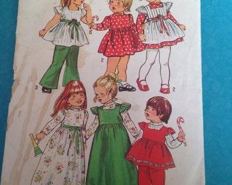 Vintage simplicity girls dress pattern size 3