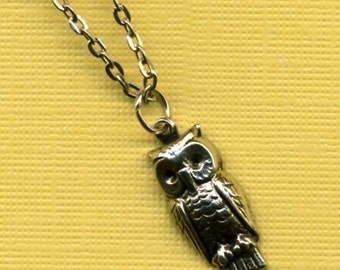 Petite Owl Charm Necklace