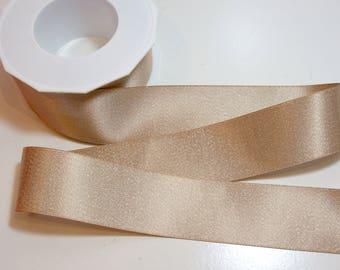 Tan Satin Ribbon 1 1/2 inches wide x 20 yards, Silver Ribbon, Morex Glitter Pearl Silver Satin Ribbon, Tan  8867.38/20-835