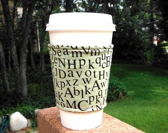Coffee cozy / cup holder / coffee sleeve / coffee cup cozy - HEY TEACHER Leave Them Kids Alone