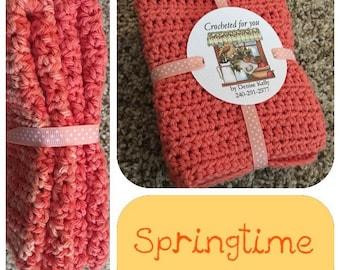 Crocheted Dishcloths-Springtime