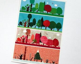 Postcard, enchanted arboretum
