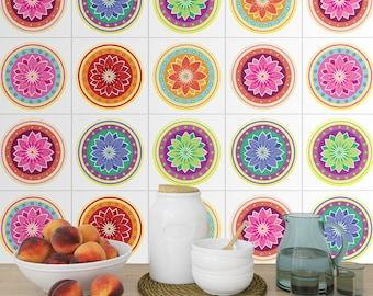 Mandalas SplashBack - Tiles Stickers - Tiles Decals - Tiles for Kitchen - Kitchen SplashBack - Tiles for Bathroom - PACK of 24 -SKU:MAA