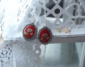 Elegant Scarlet Earrings
