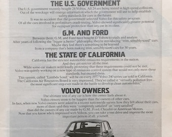 1977 Volvo Photo Print Ad