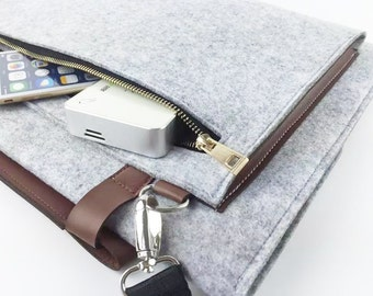 Zipper Felt Macbook sleeve, Macbook Air case, Macbook Pro sleeve, Macbook 11 13 15 Air Pro Sleeve, Macbook Pro Retina sleeve 058