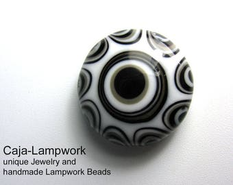 Removable top, glass top, black-white-gray, 24 mm