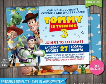 Toy Story 3 Invite - 50% OFF - INSTANT DOWNLOAD - Printable Disney Toy Story 3 Invitation - Toy Story - DiY Personalize & Print - (TSin02)