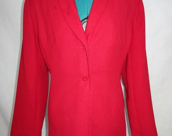 red blazer by Karen Scott