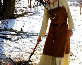 Viking Apron, Early Medieval , Scandynavian Apron, for Viking Reenactors, Viking Costume