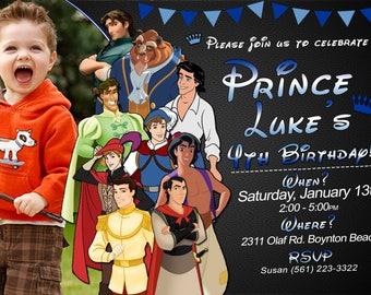 Disney Prince Birthday Invitation