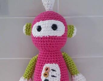 Hand Crocheted Rosie the Robot