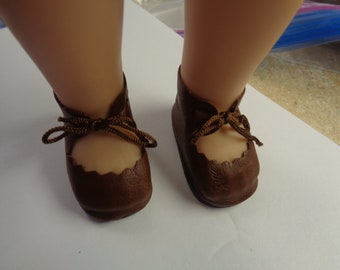 Soft Brown Leather Boots for Dolls- Fits  Wellie Wisher Dolls Only