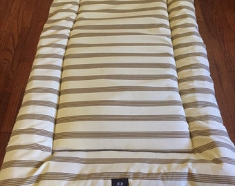 Clearance- Neutral Stripes Dog Bed, Dog Crate Bed, Dog Crate Pad, Puppy Bed