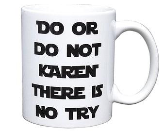 Personalised Star Wars Coffee Mug - Yoda 'Do or Do Not' - Keepsake Gift - Unique Gift - Star Wars Fan - Star Wars - Yoda