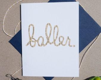 """Cut-out """"Baller"""" Card"""