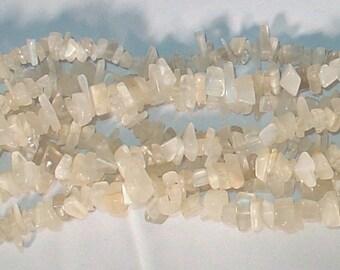 "Moonstone Chip Gemstone Bead - 34"" Strand"