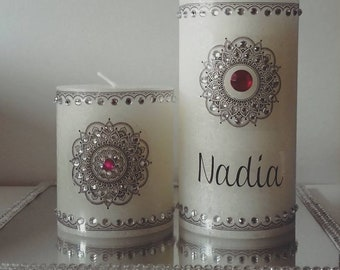 Candle with custom Oriental style