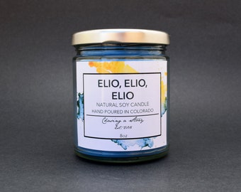 Elio, Elio, Elio // 8oz Soy Candle - Peaches - Summer - Italy - Call Me By Your Name - Bookish Candles - Book Lover Gifts - Handmade - Gift