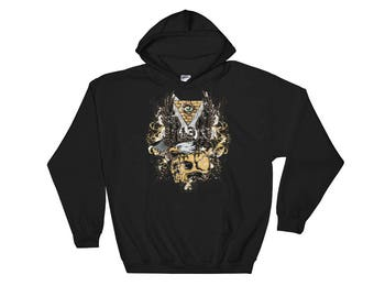 Hot Eagle Skull Hooded Sweatshirt