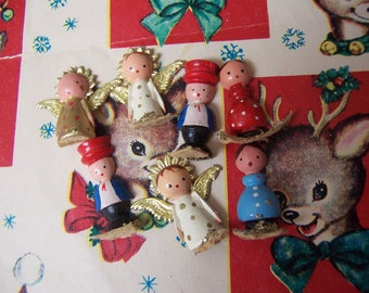 wee tiny wooden dolls from italy