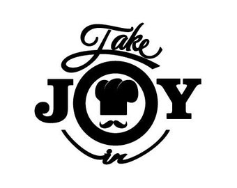 Take Joy In Chef Mustache Decal