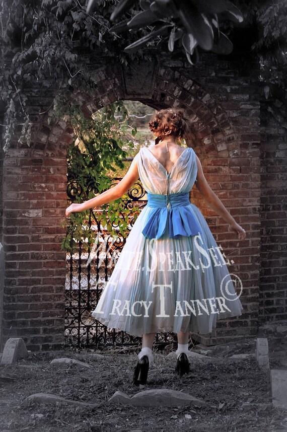 Alice In Wonderland Kaninchen Kaninchen-Loch blaues Kleid