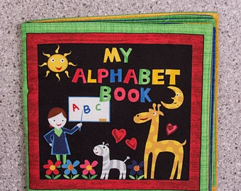 Cloth book, soft book, Alphabet, ABC, school, teacher, toddler toy, quiet toy