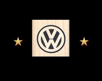 VW Volkswagen Logo Stamp, VW Bug, VW Van, vw Beetle, vw Logo, vw Symbol, Volkswagen party, vw Rubber Stamp, vw Stamp, Hippie vw, vw gift