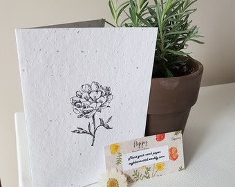 Plantable Seed embedded Greeting Card