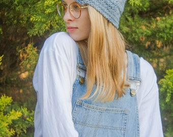 Button Up Crochet Beanie Pattern – Luxurious Layers Collection – Hat with Buttons Beanie Pattern – 5 sizes included - Easy Crochet Pattern