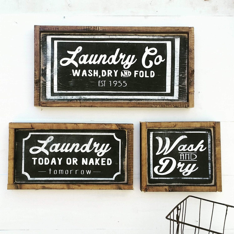 Laundry Room Signs Decor: Farmhouse Laundry Decor Laundry Sign Laundry Room Decor