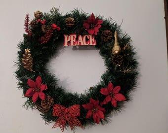 Peace Christmas Wreath (W61)