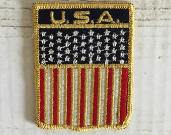 Vintage Red, White, and Blue U.S.A. Stars and Stripes Flag Patch