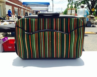 Striped vintage Bantam Suitcase