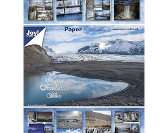 Block of 32 paper 15 x 21 cm JOY CRAFTS MAGIC ICELAND