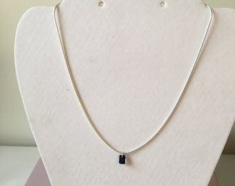 Floating Iolite sterling silver necklace