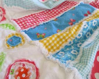 Rag Quilt, Handmade Quilt, Rag Quilt For Sale, Handmade Rag Quilt, Rag Quilt Throw,  Ready To Ship