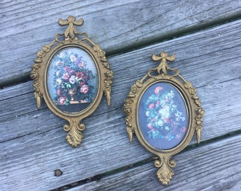 Gothic Frames Floral Prints Made In Italy Cast Metal Frames