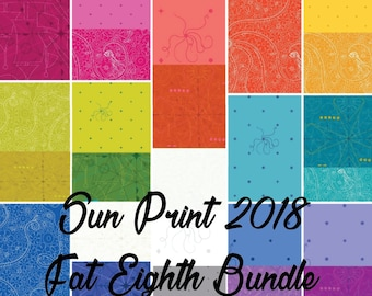 Sun Print 2018 Complete Fat Eighth Bundle by Alison Glass for Andover Fabrics
