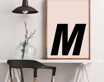 Poster: typolove - Monogram / Letter M no. 1