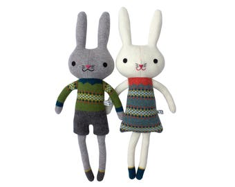 Lambswool Mrs or Mr Bunny